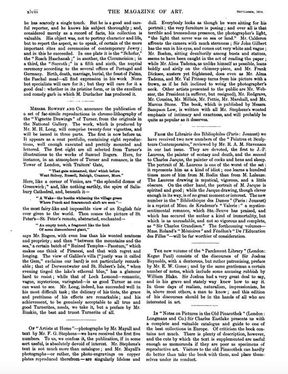 """""""Art in September,"""" <em>Magazine of Art,</em> 1884"""