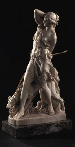 <em>Artemis with her hound</em>