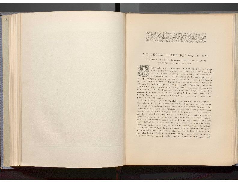 GEORGE FREDERICK WATTS, R.A., LL.D.
