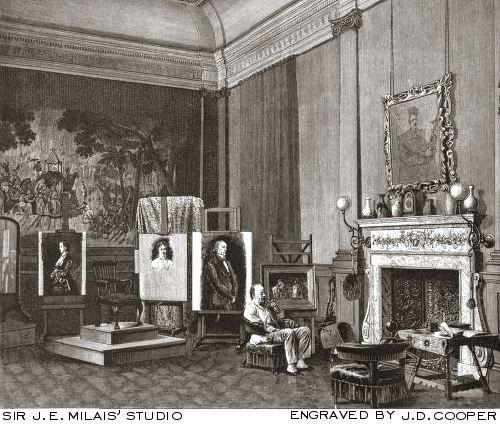 <em>Sir J. E. Millais's Studio</em>
