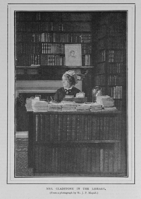 Mrs. Gladstone in the Library