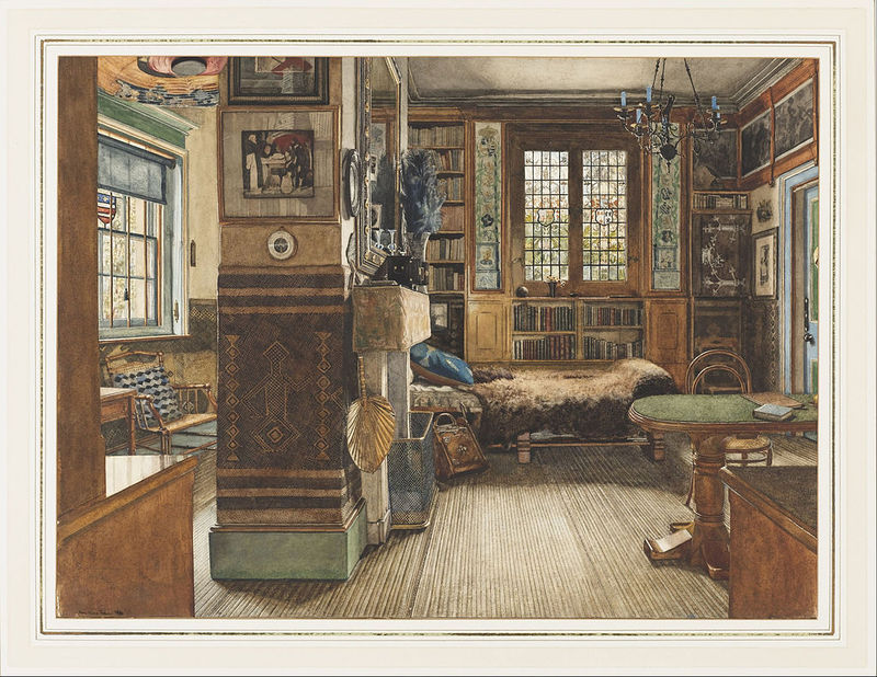 <em>Sir Lawrence Alma-Tadema's Library in Townshend House, London</em>