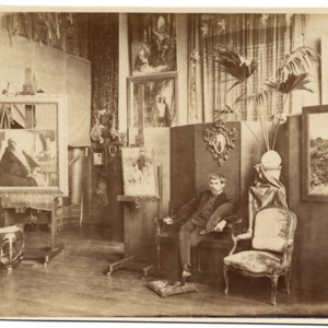Pascal Dagnan in his studio, ca. 1885