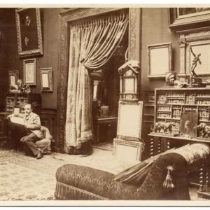 Leon Bonnat in his studio, ca. 1885
