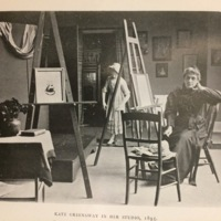 Kate Greenaway in Her Studio