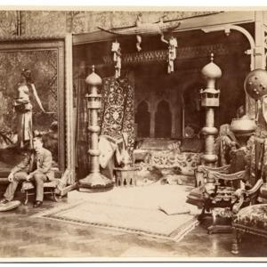 Benjamin Constant in his studio, ca. 1890